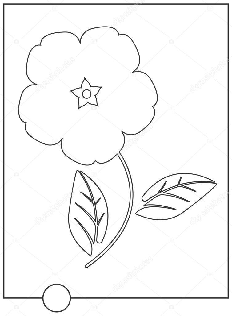 かわいい花の塗り絵 — ストックベクター © da6kin #115074242