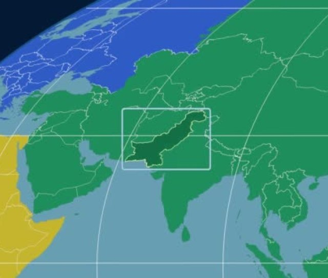 Pakistan D Tube Zoom Mollweide Projection Continents Stock Video