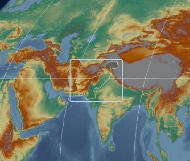 Pakistan D Tube Zoom Kavrayskiy Vii Projection Relief Stock Video