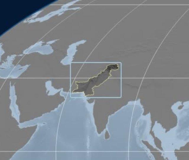 Pakistan D Tube Zoom Mollweide Projection Bumps Stock Video