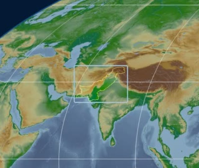 Pakistan 3d Tube Zoom Mollweide Projection Bumps Shaded Stock Video