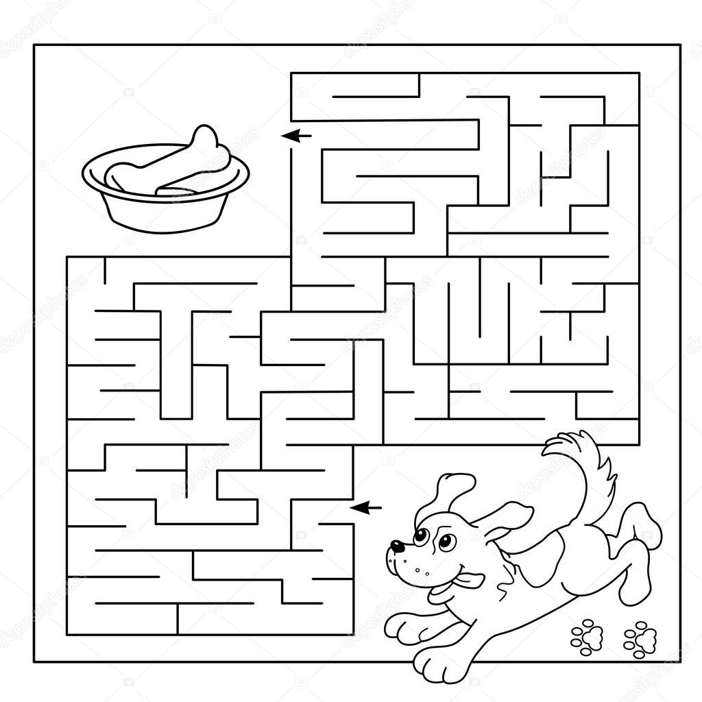 Kreslene Vektorove Ilustrace Vzd Lani Bludi T Nebo Labyrint Hra Pro P Ed Kolni D Ti Hadanka