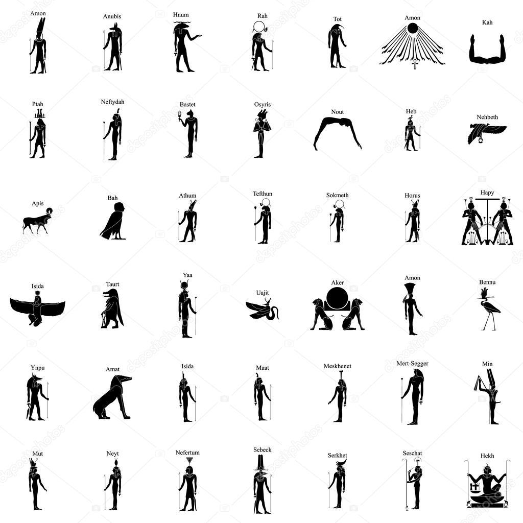 Simbolos De Dioses Egipcios