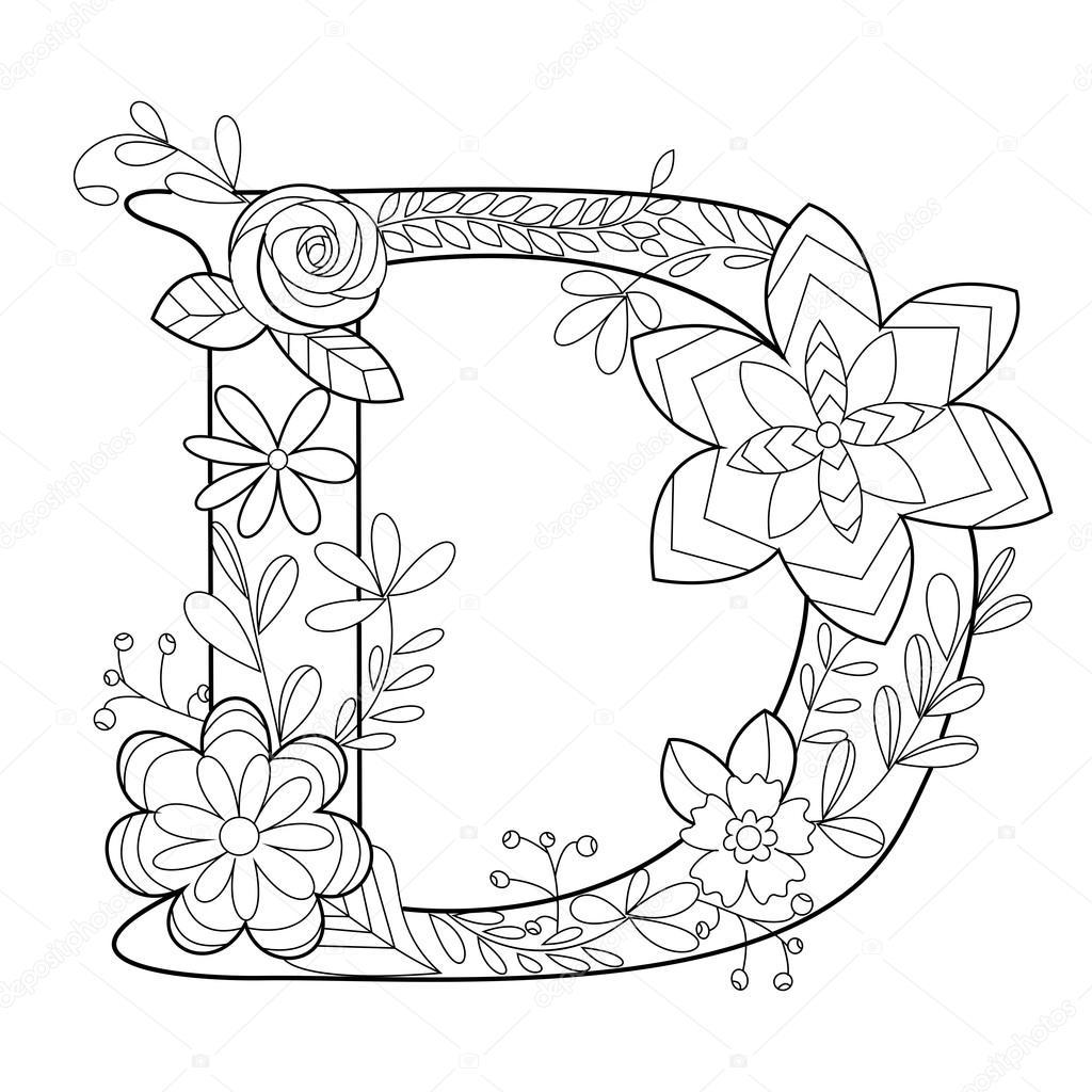 Mandala Coloring Pages Letter D Novocom Top