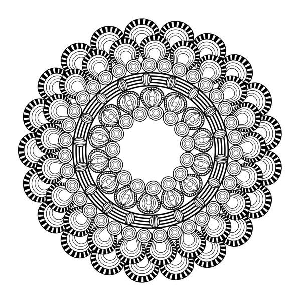 Komplizierte Mandala Symbol Stockvektor Jemastock