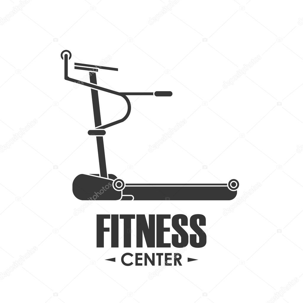 Running Machine Icon Fitness Design Vector Graphic