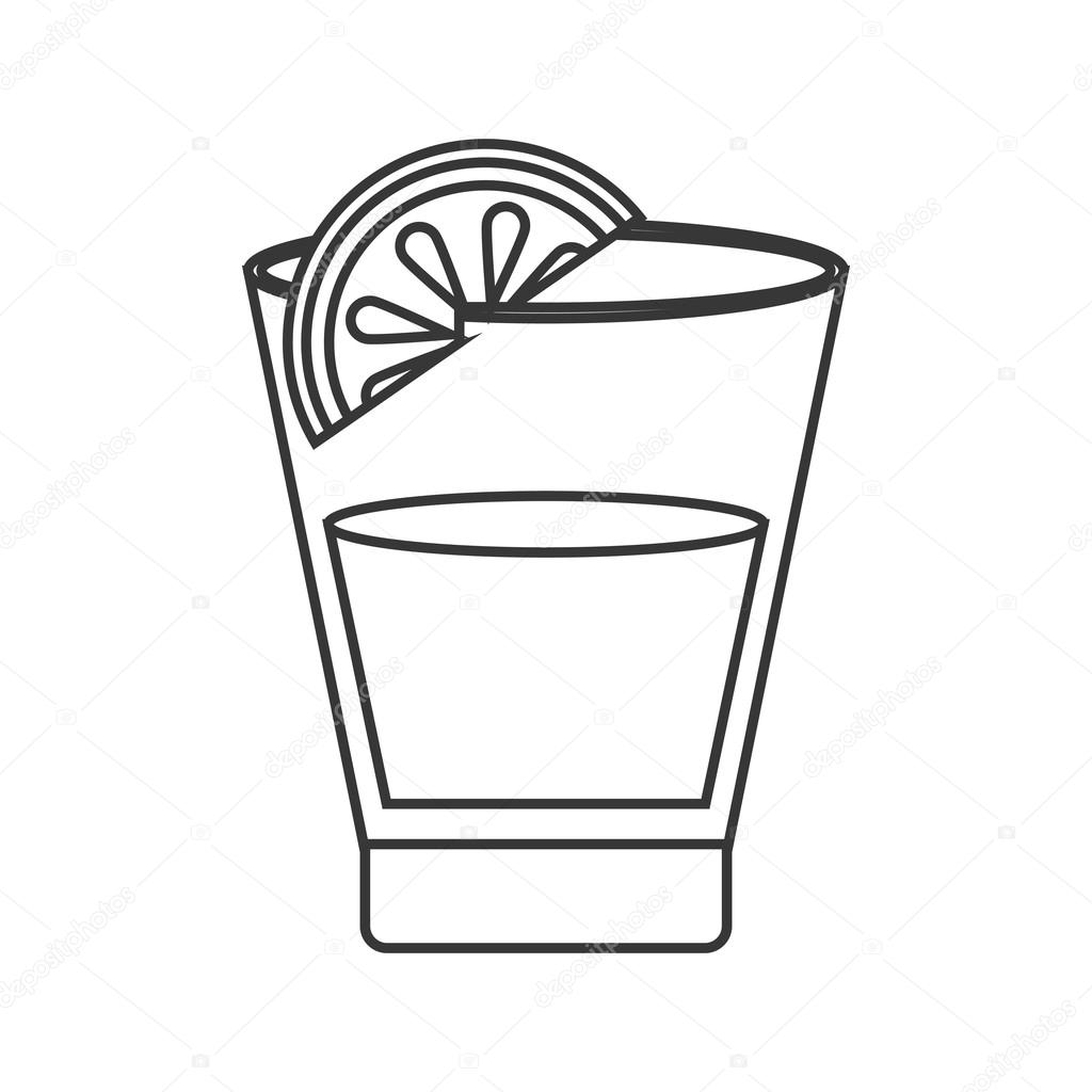 Tequila Shot And Lime Icon