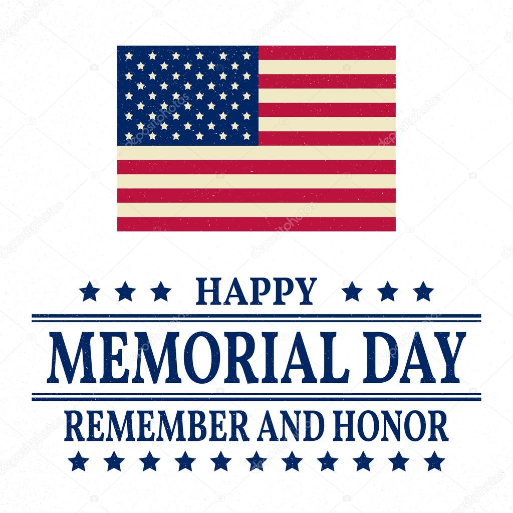 Happy Memorial Day Background Template Happy Memorial Day