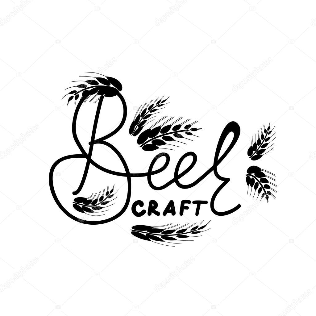 Craft Beer Teken Craft Beer Belettering Met Hand Tekenen