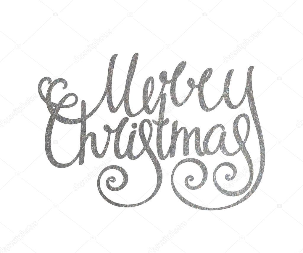 Iscrizione Scritta A Mano Argento Merry Christmas