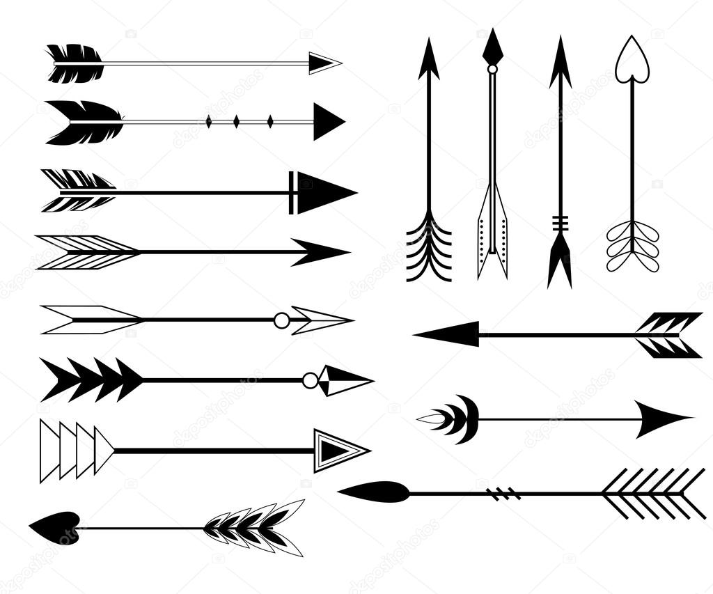 Seta De Clip Art Set Em Vetor Em Fundo Branco Conjunto De