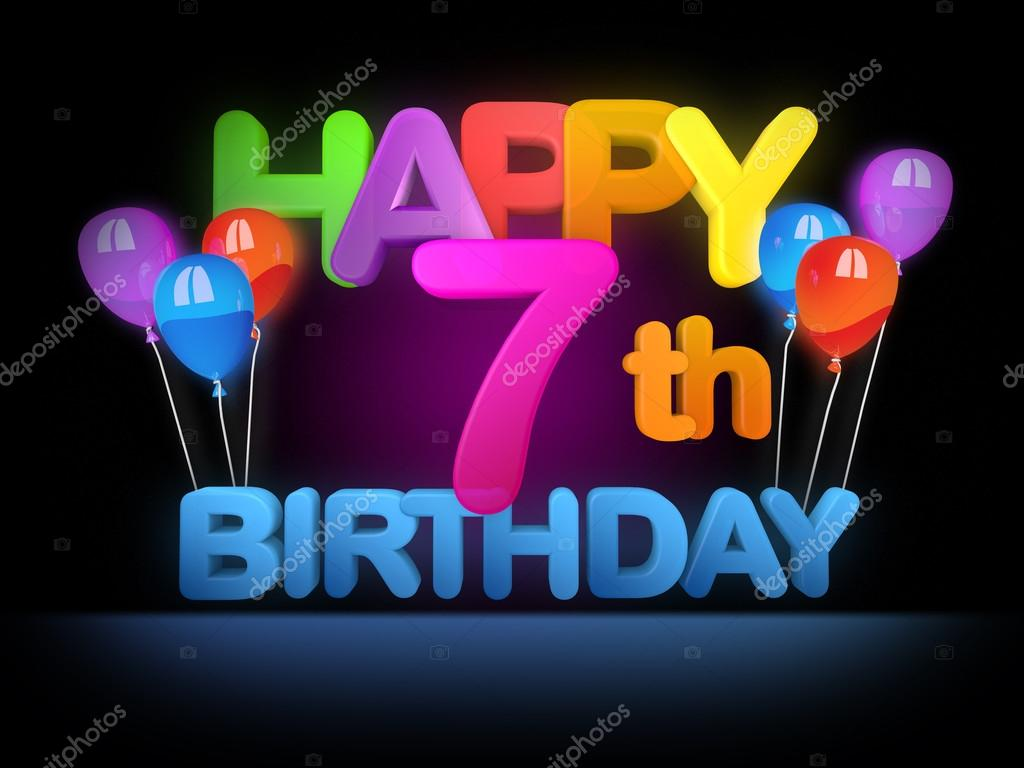 Happy 7th Birthday Title Dark Stock Photo Image By C Mail Hebstreit Com 91265410
