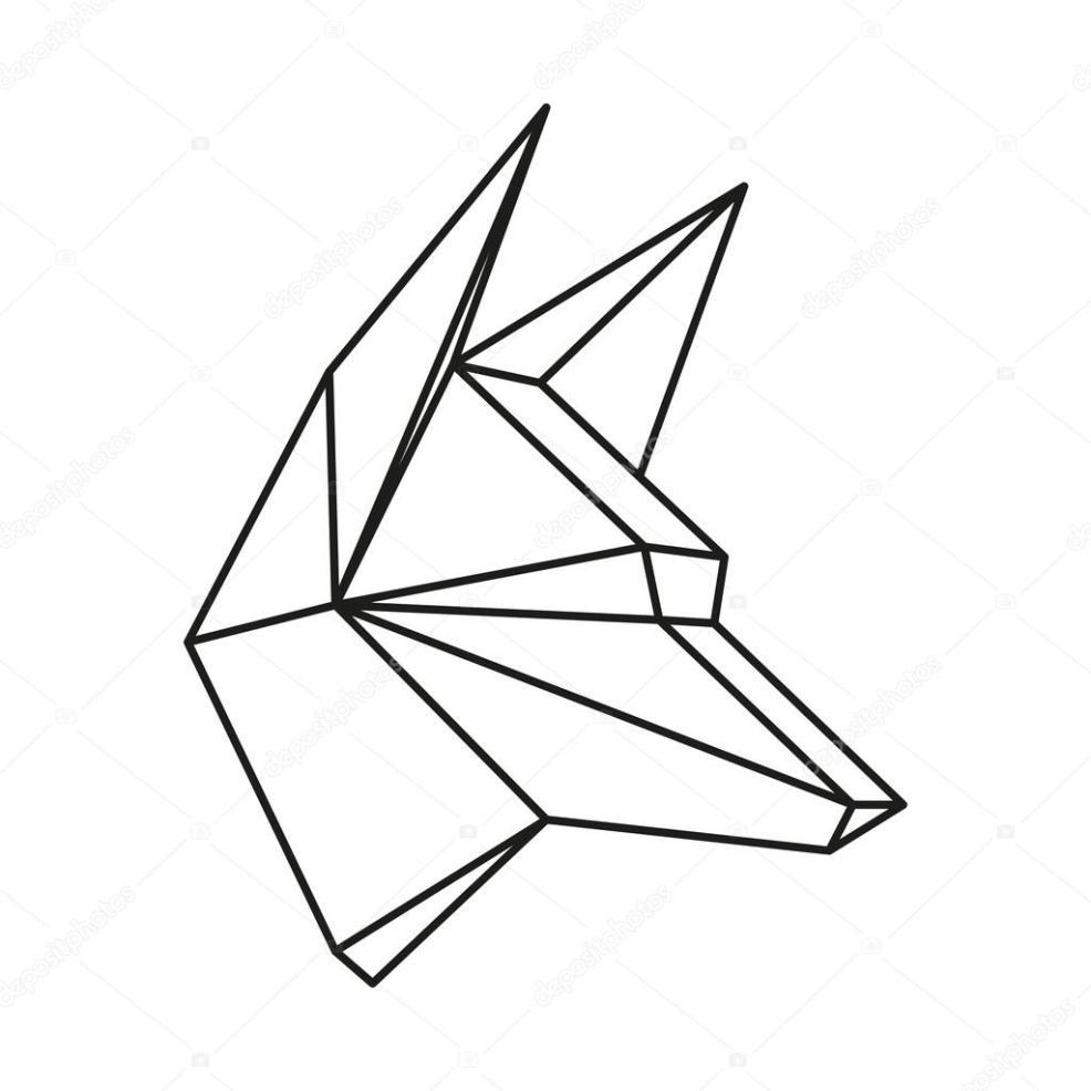 геометрические животные Line2 вектор геометрические волк