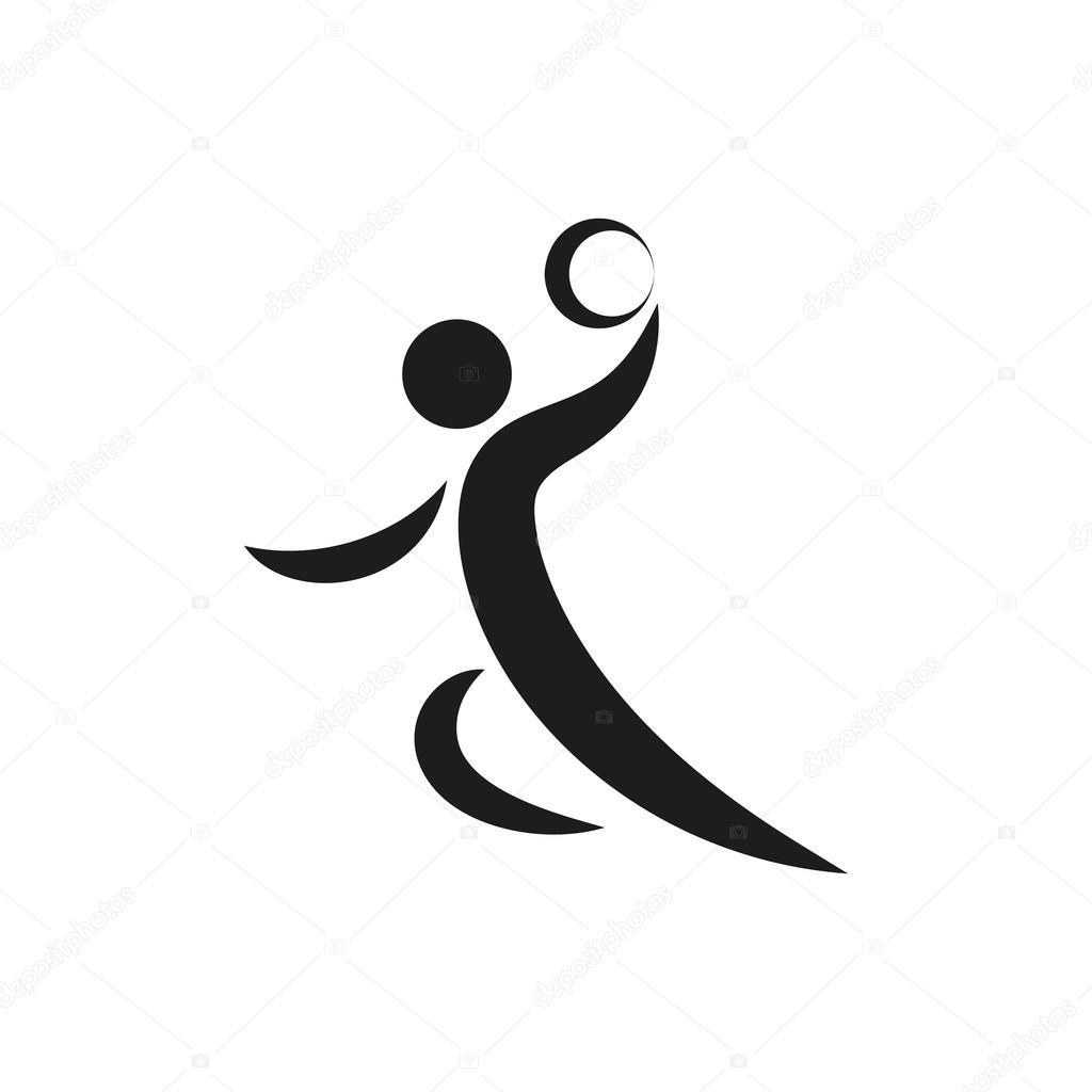 Handball Spieler Symbol Zum Download Vektor Icons Fur