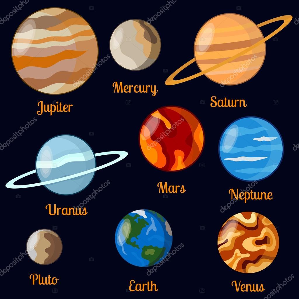 Planeten Vektor Satz