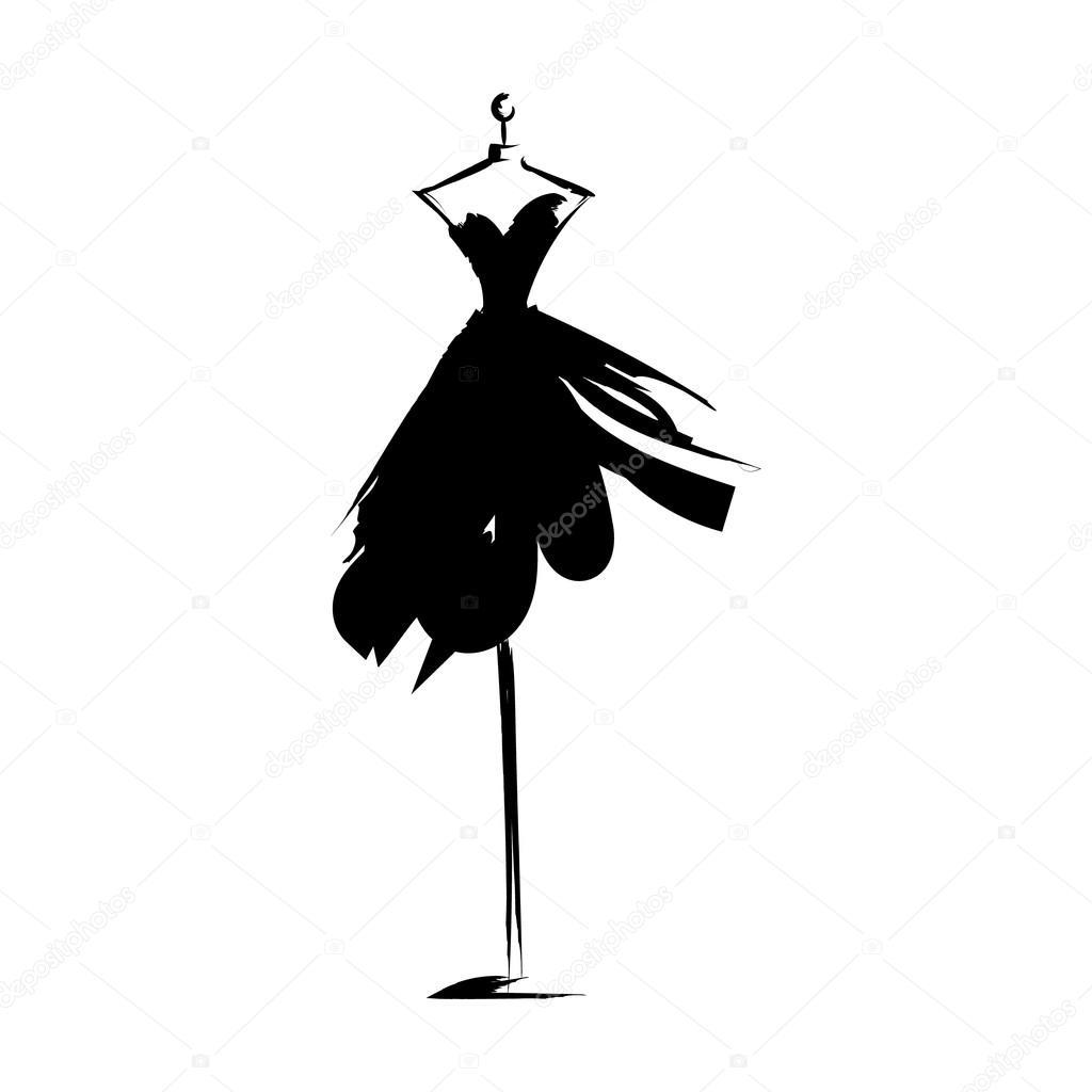 Mao De Manequim Vestido Desenho Ilustracao Vector