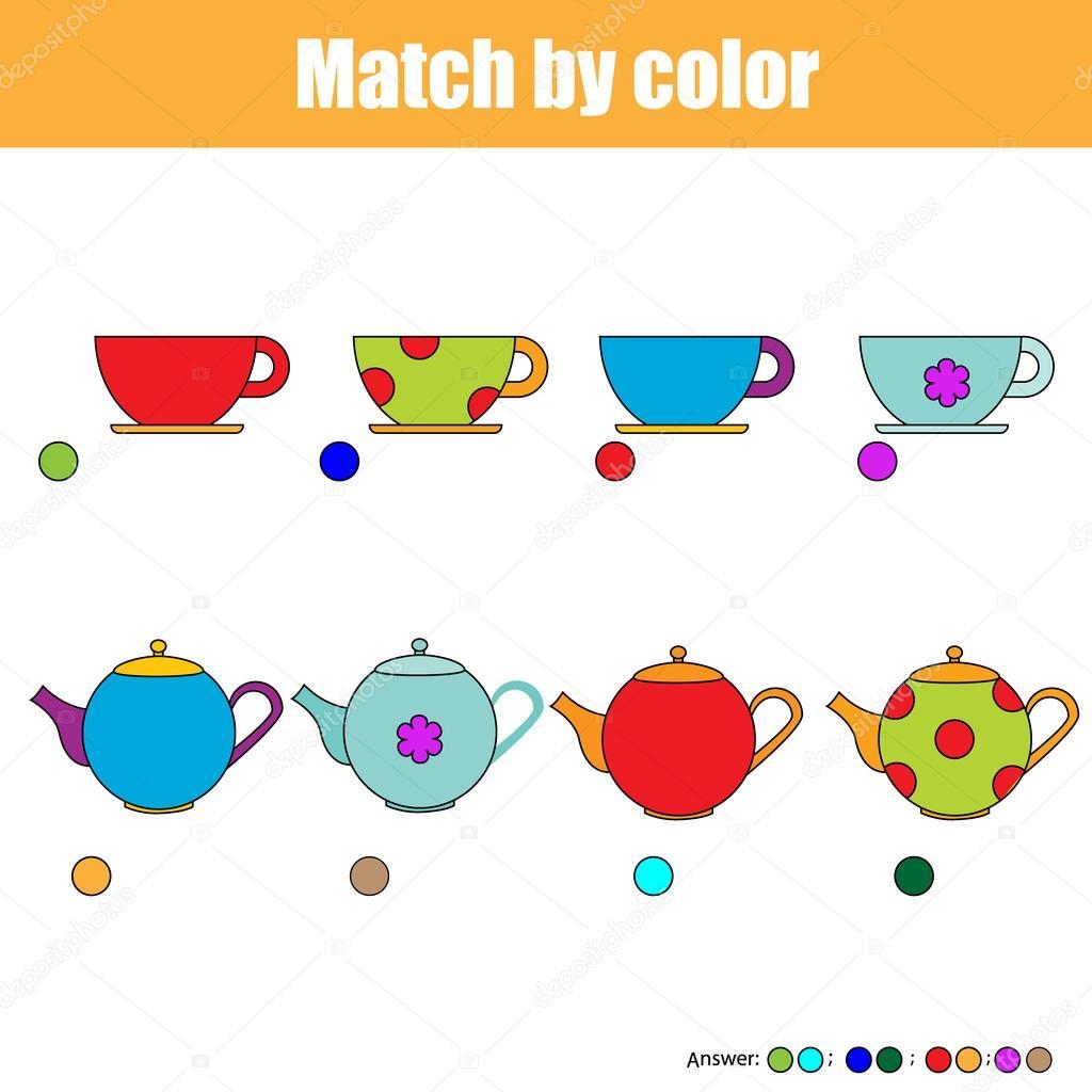 Matching Children Educational Game Kids Activity Sheet