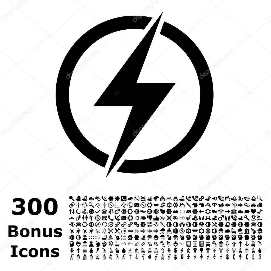 Icono De Vector Plano De Electricidad Con Bono