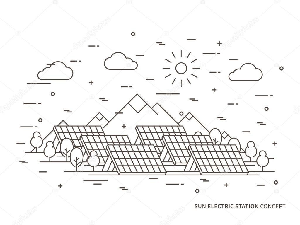 Linear Sun Electric Station