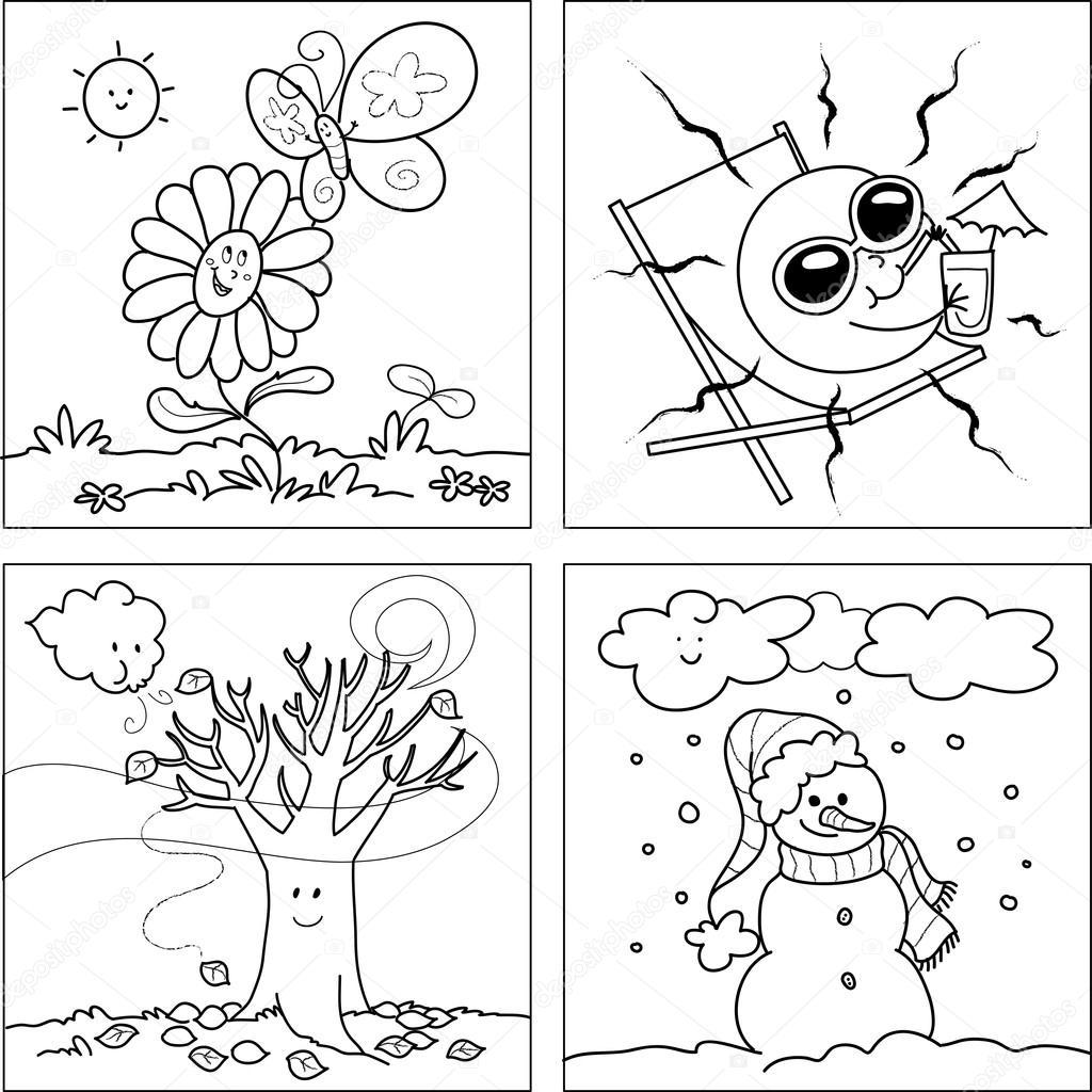 Imagenes Invierno Verano Otono Y Primavera Para Dibujar