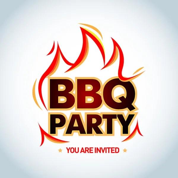 bbq party invitation vectors