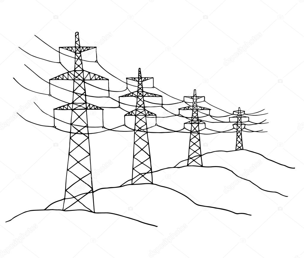 Cartoon Power Lines