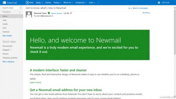 Newmail - o novo Hotmail