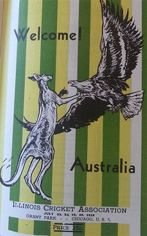 The Chicago Flyer welcoming the Australian cricket team
