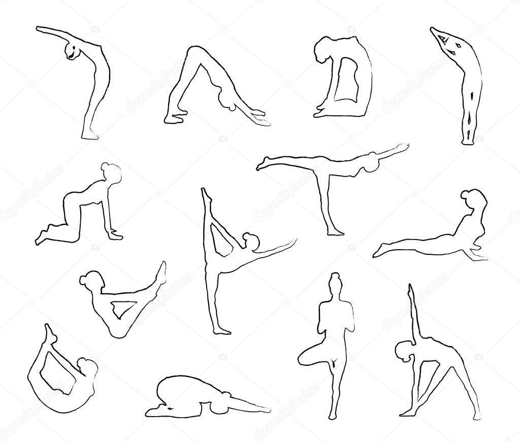 Posiciones De Yoga Para Colorear