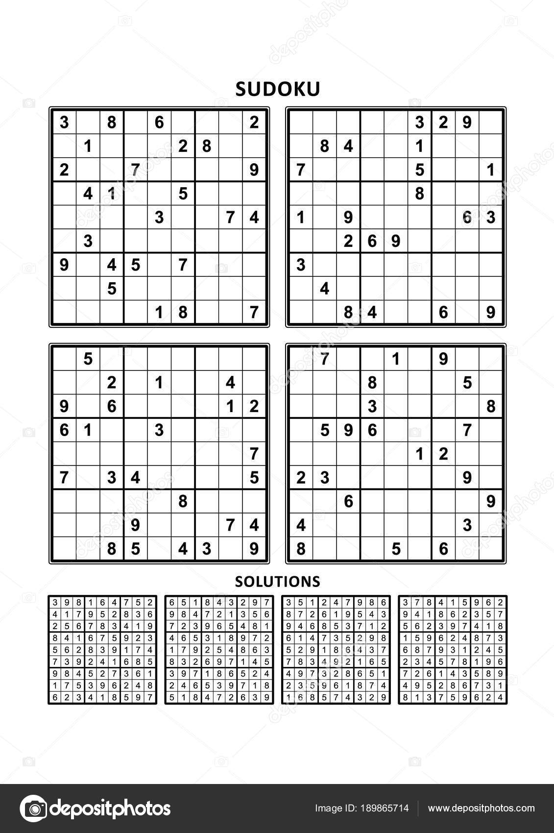Four Sudoku Puzzles Comfortable Easy Yet Very Easy Level