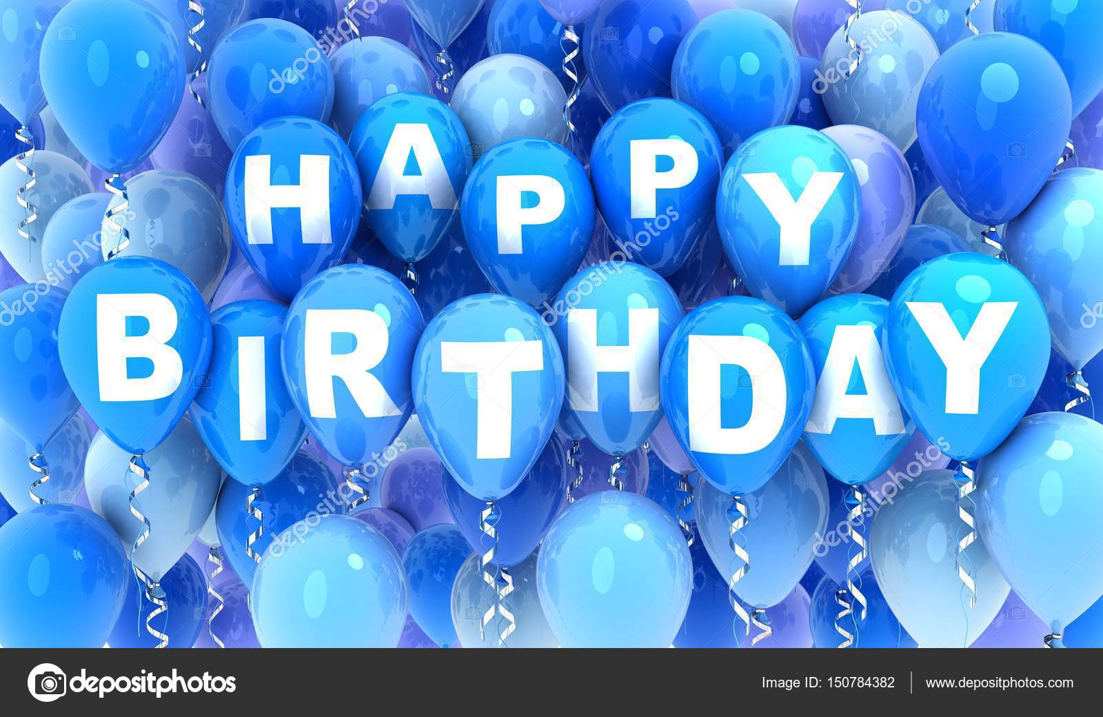 Balloons Blue And Happy Birthday Stock Photo Image By C Vladru 150784382