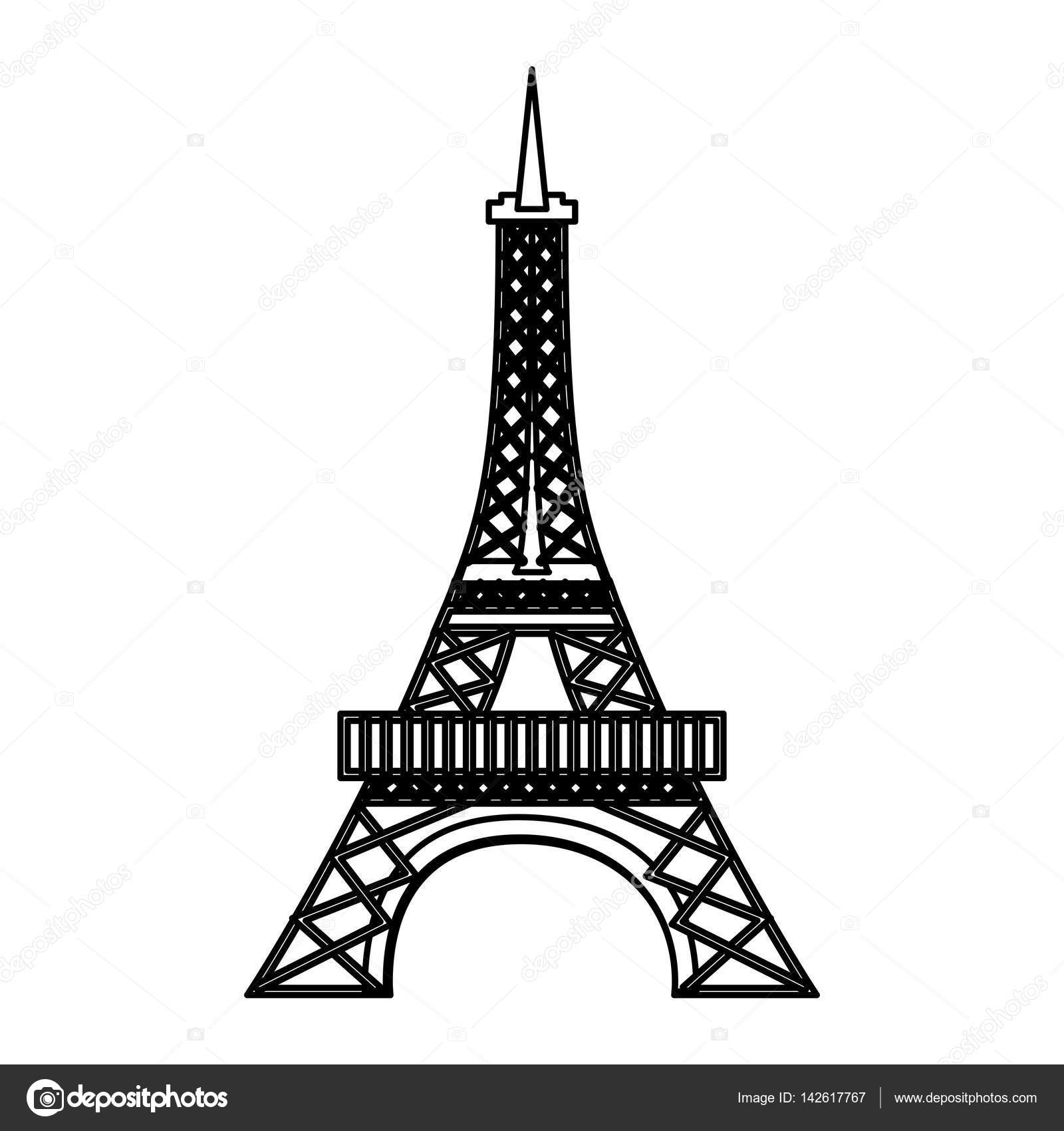 Eiffel Tower Isolated Icon