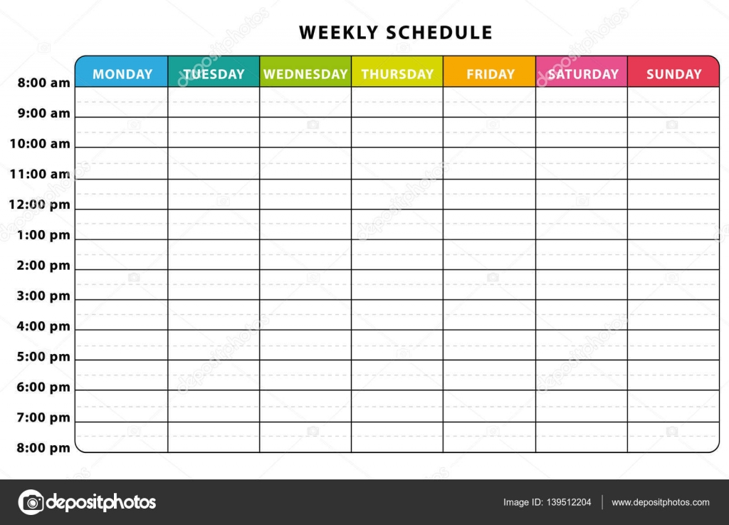 Weekly Planner Colorful Schedule