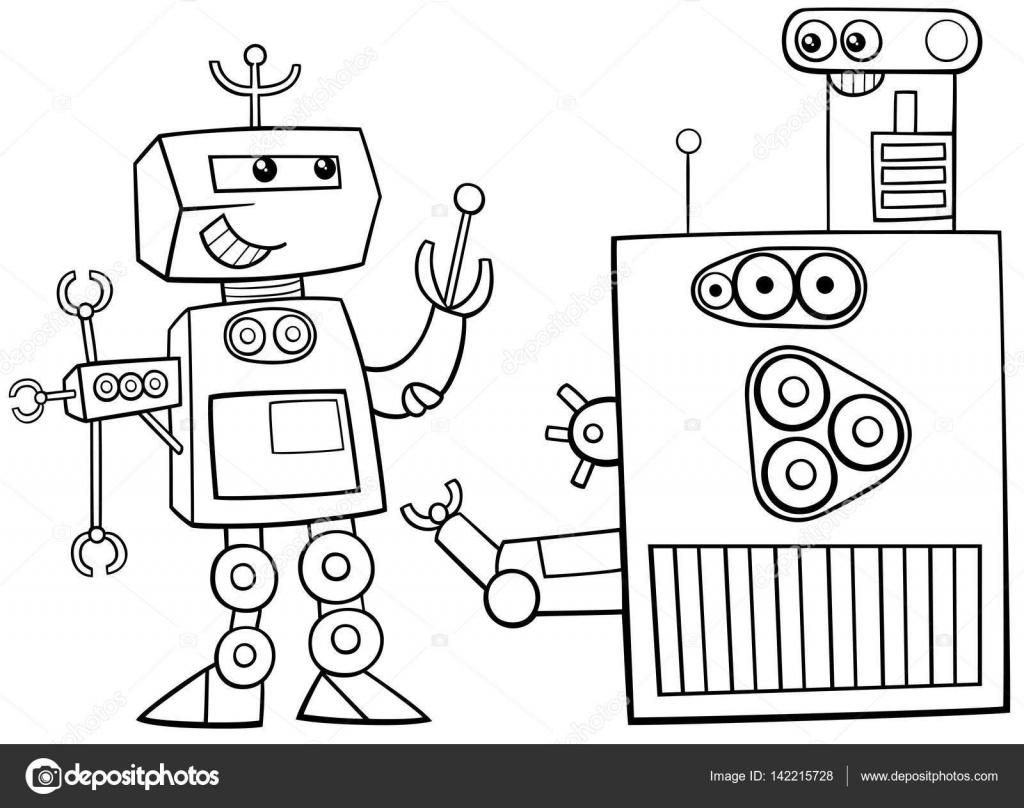 Robots Karakter Kleurplaat