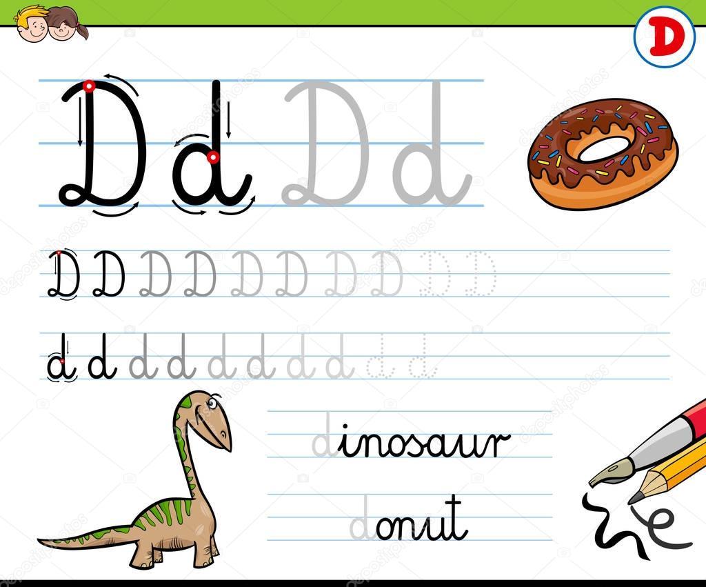 Comment Ecrire La Feuille De Lettre D Pour Les Enfants