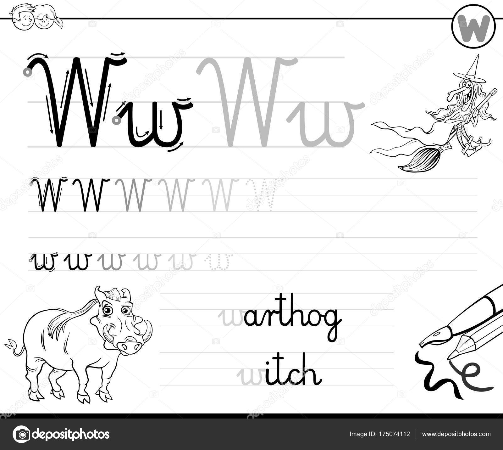 Learn To Write Letter W Workbook For Kids