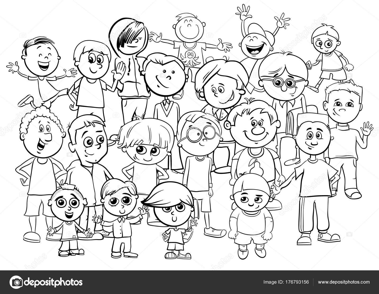 Dibujos Grupo De Maestros Para Colorear