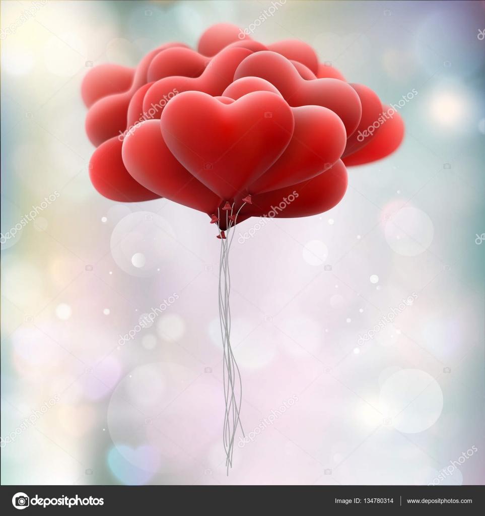 Download Red love balloons. EPS 10 — Stock Vector © beholdereye ...