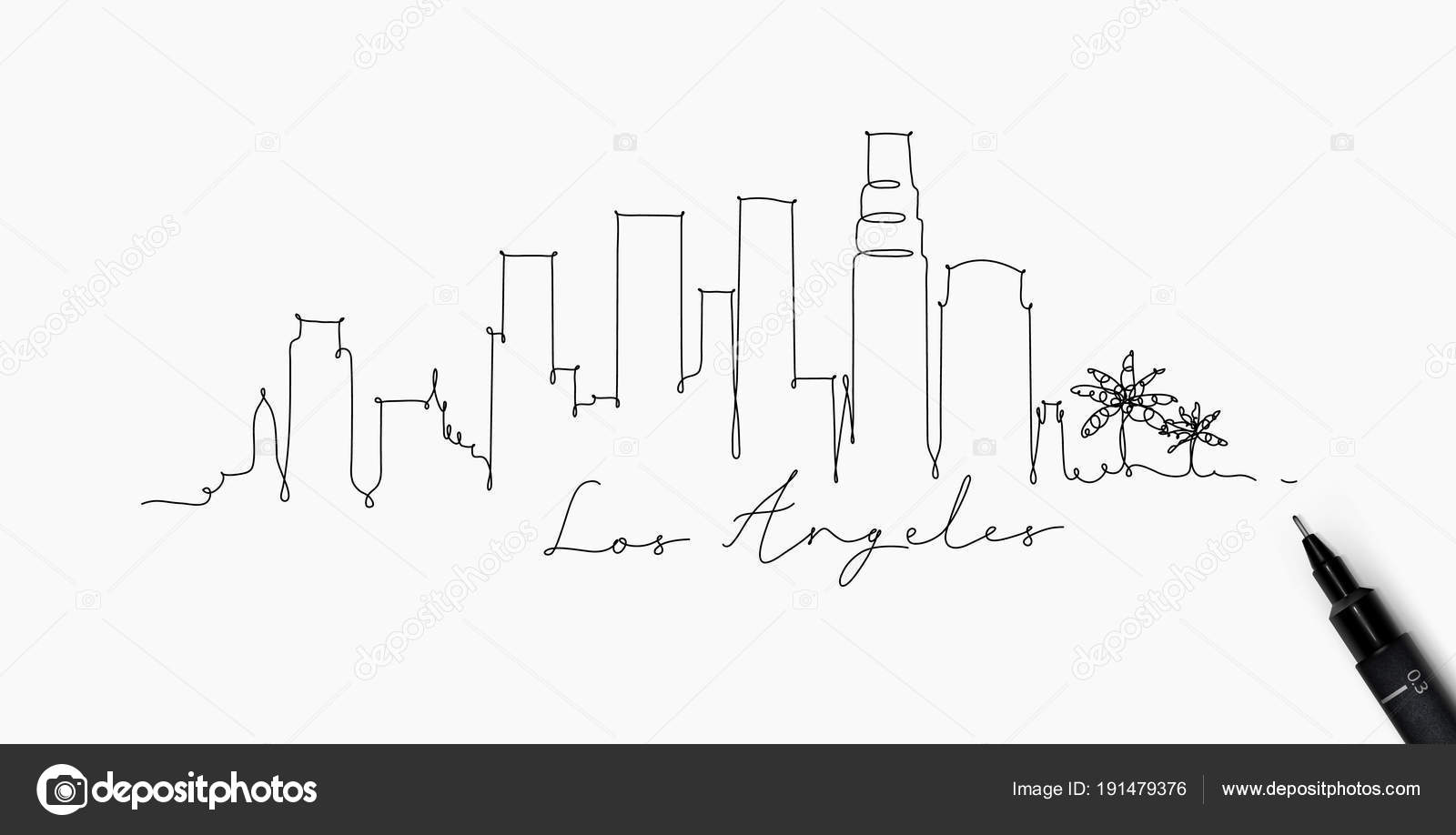 Pen Lijn Silhouet Los Angeles