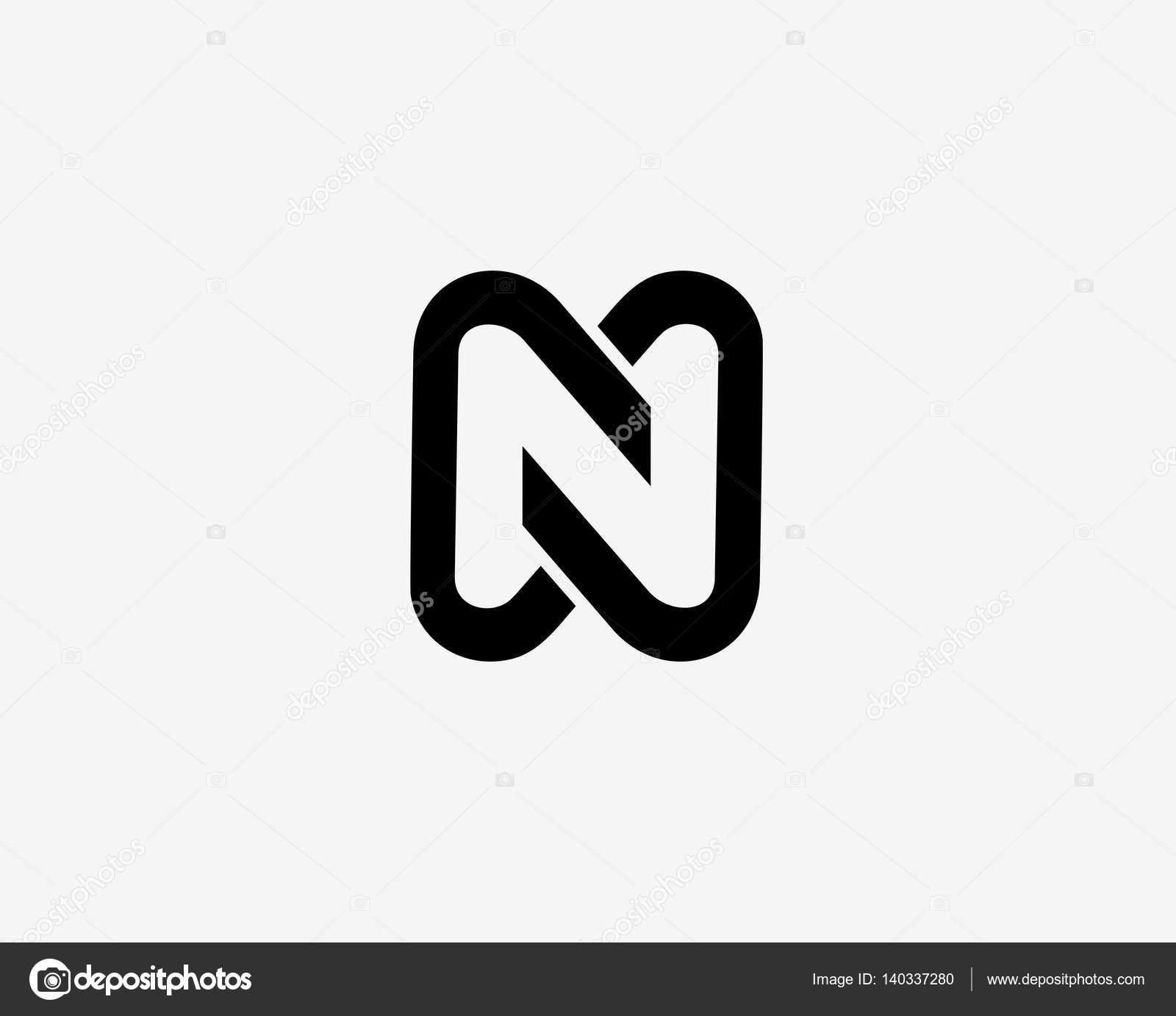 Letter N Icon Alphabet Symbol Letter N Logo Icon Design