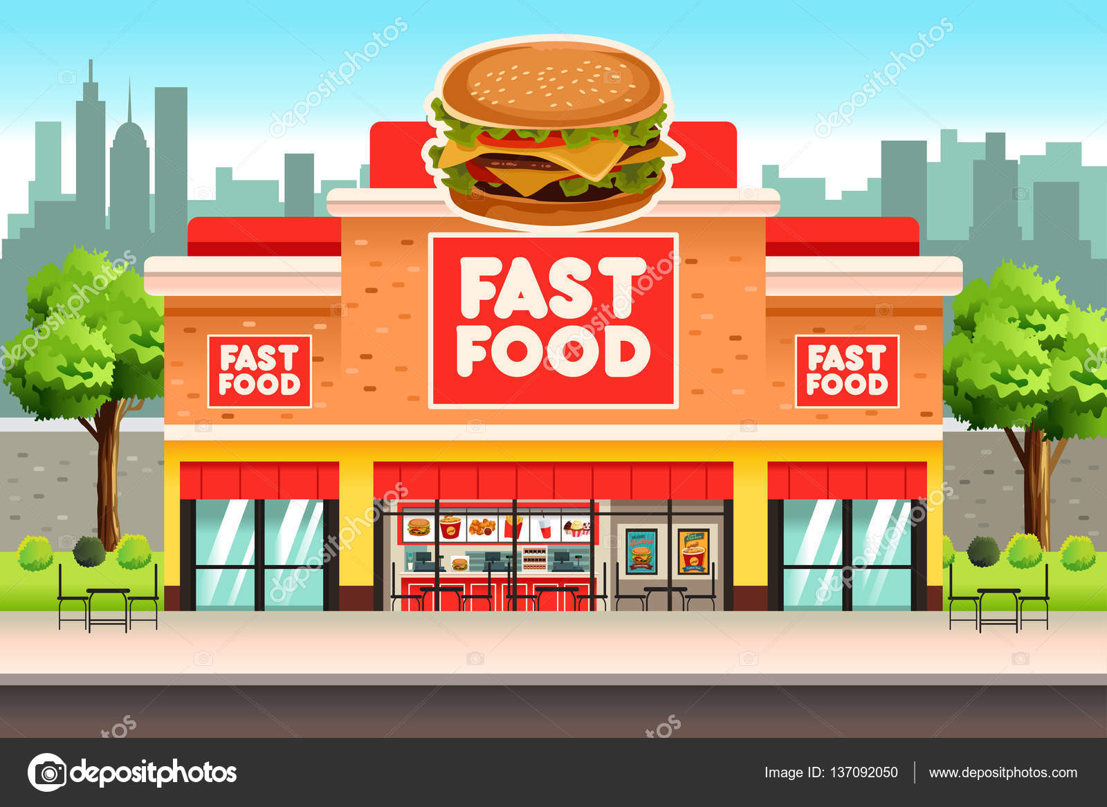 Different Fast Food Restaurants