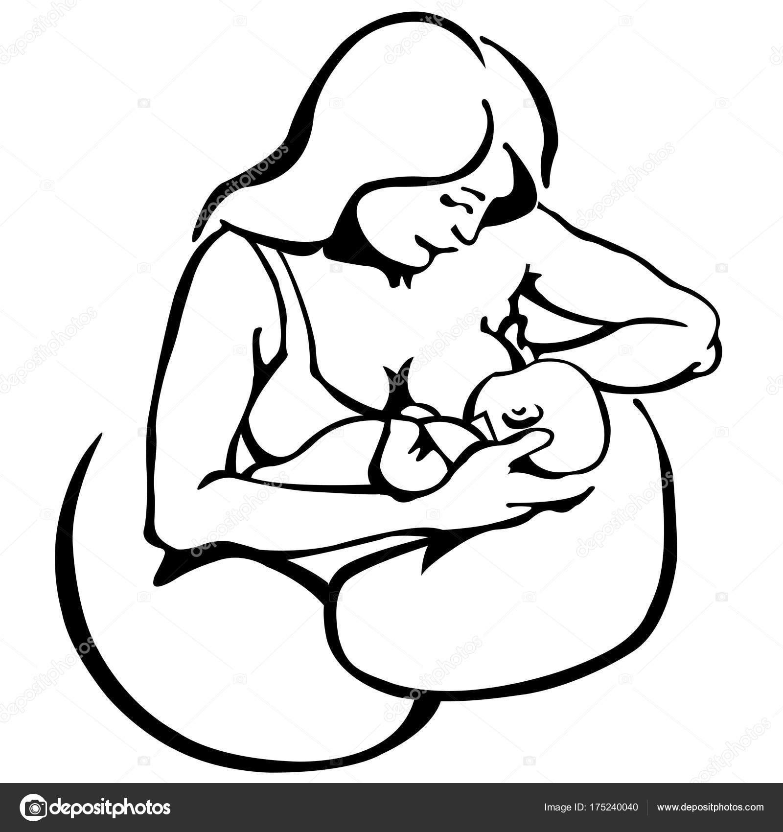 La Lactancia Materna Sketch Coloring Page