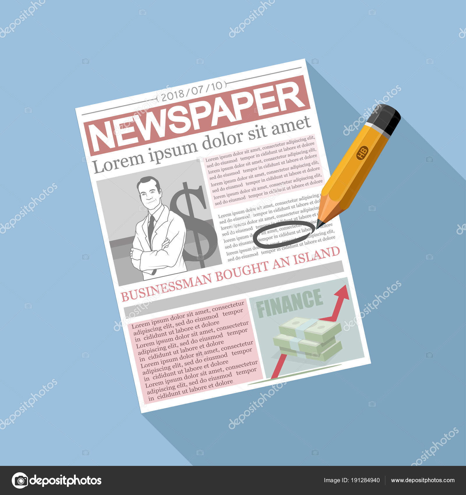 Newspaper Concept Newspaper Template     Stock Vector     Newspaper Concept Newspaper Template     Stock Vector