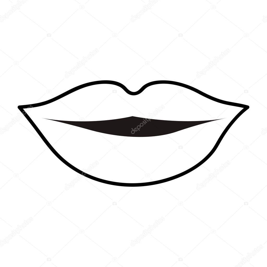 Lips Cartoon Icon Image