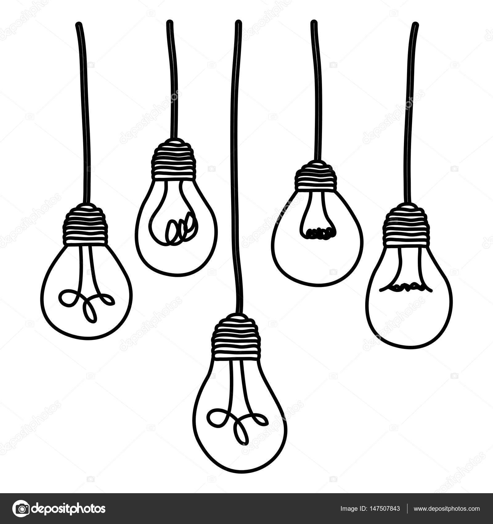 Light Bulbs Hanging Icon