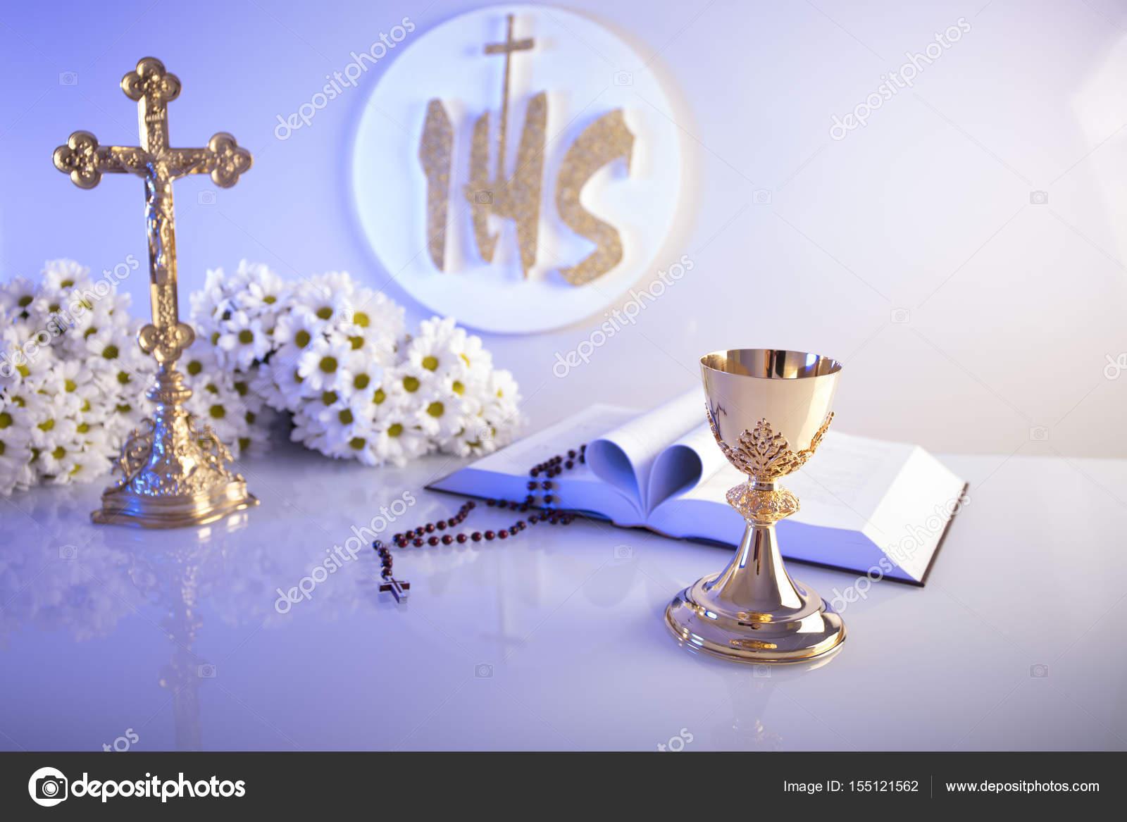 First Holy Communion Catholic Religion Theme