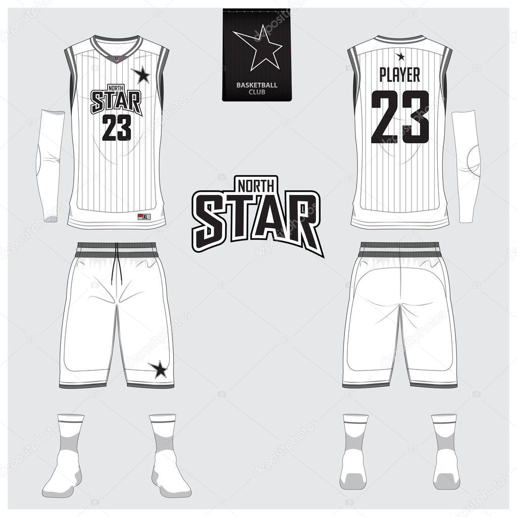 Download White basketball uniform or jersey, shorts, socks template ...
