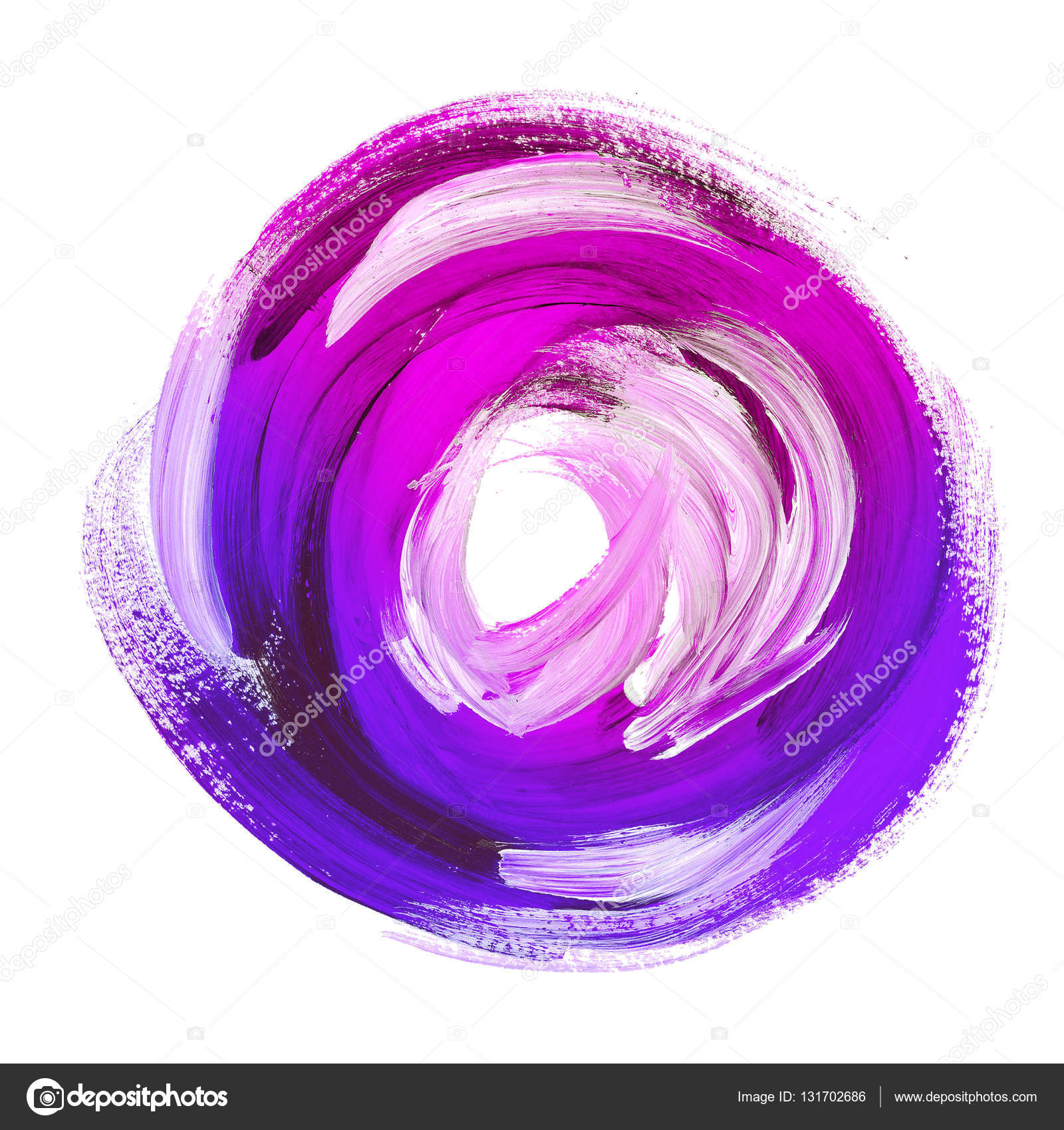 Oil Paint Abstract Violet Round Backdrop Acrylic Brush
