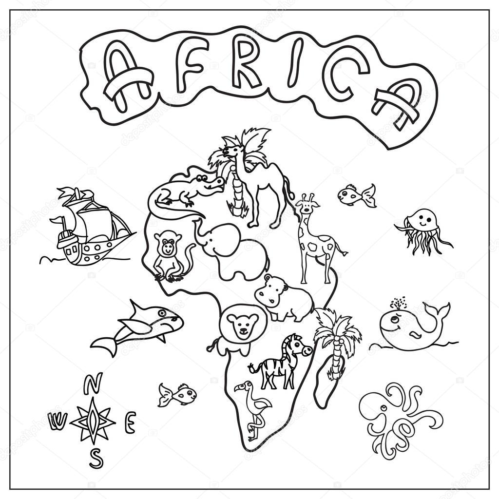 Pictures Africa Map Coloring