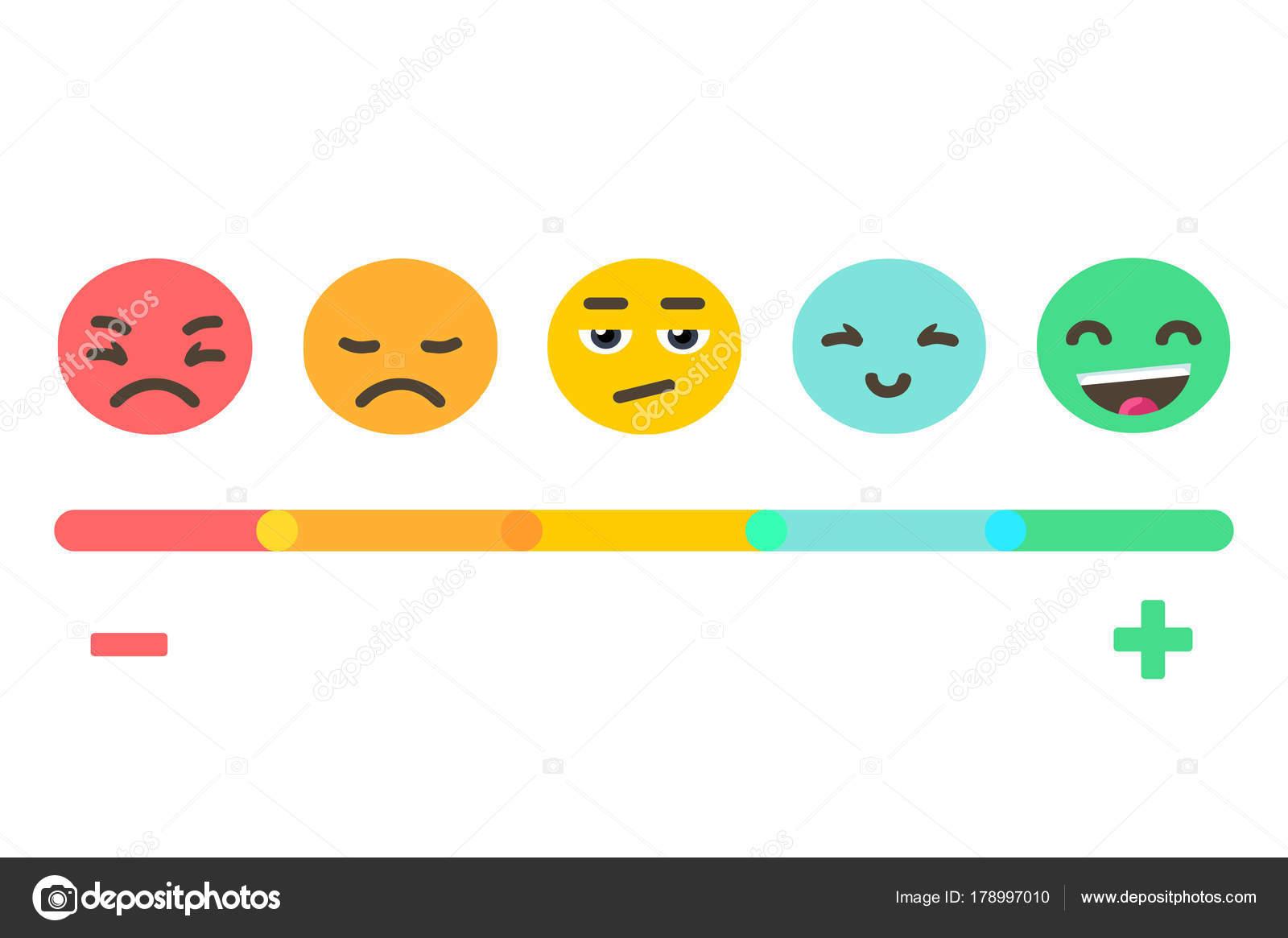 Emoji Feedback Emoties Schaal